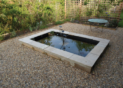 Air raid shelter pond conversion